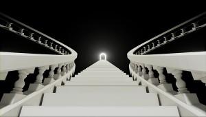 幻想的な階段を上る